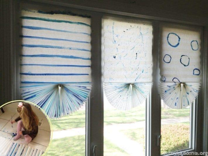 Бумажные или полимерные шторы, украшенные детским рисунком, будут прекрасно смотреться и в детской комнате, и в спальне родителей или бабушки с дедушкой